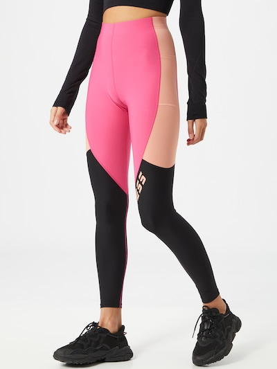 GUESS Sportske hlače u roza / crna: Prednji pogled