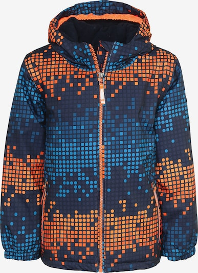 KILLTEC Outdoorjacke 'KICKY ALLOVER' in blau / orange, Produktansicht
