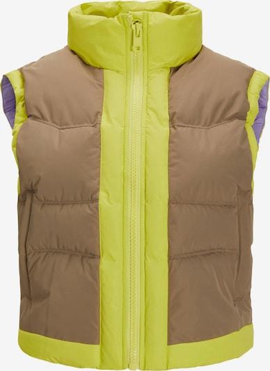 JJXX Weste 'RUBY' in braun / gelb, Produktansicht