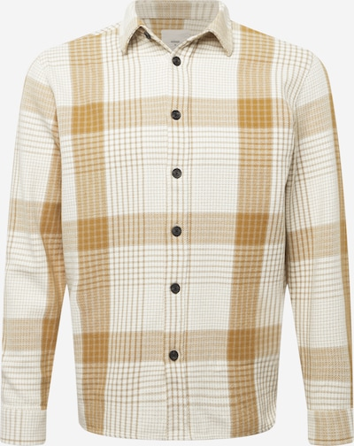 minimum Hemd 'Faran' in khaki / naturweiß, Produktansicht
