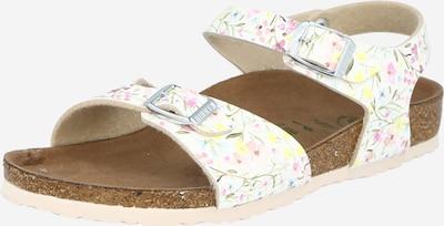 BIRKENSTOCK Sandále 'Rio' - svetlomodrá / žltá / olivová / svetloružová / biela, Produkt