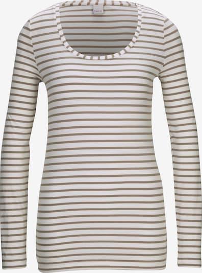 heine Majica u siva / bijela: Prednji pogled