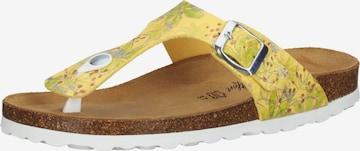 COSMOS COMFORT T-Bar Sandals in Yellow