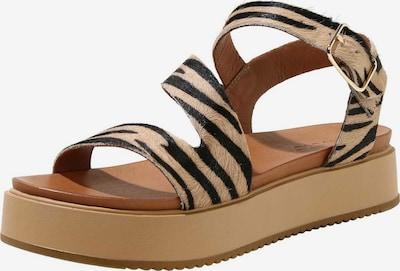 INUOVO Sandale in hellbraun / schwarz, Produktansicht