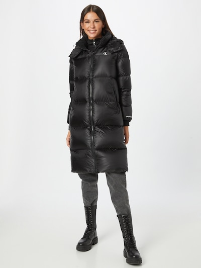 Calvin Klein Jeans Zimní kabát - černá / bílá, Model/ka