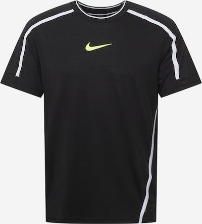 NIKE Функционална тениска в киви / черно / бяло, Преглед на продукта