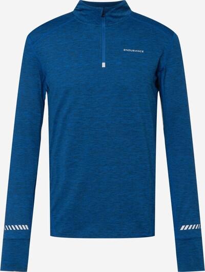 ENDURANCE Sportshirt in dunkelblau / weiß, Produktansicht