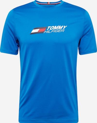 Tommy Sport Camiseta funcional en azul / azul noche / rojo / blanco, Vista del producto
