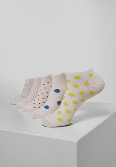 Urban Classics Sokken ' No Show Socks Dots ' in de kleur Gemengde kleuren: Vooraanzicht