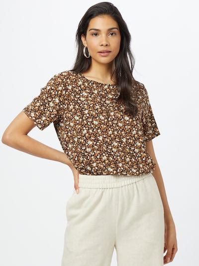 Soyaconcept Bluse 'RADA' in braun / schwarz / weiß, Modelansicht