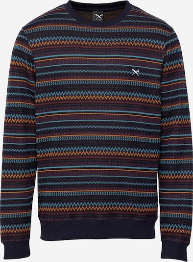 Bluză de molton 'Chopnotic' Iriedaily pe azuriu / albastru închis / portocaliu / roşu închis, Vizualizare produs