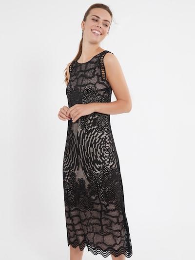 Ana Alcazar Midikleid ' Zazil ' in schwarz, Modelansicht