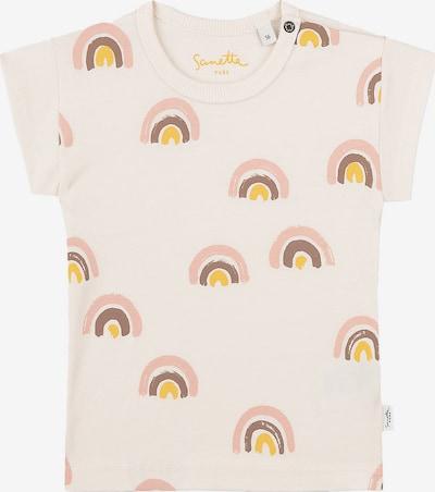 Sanetta Pure Majica u smeđa / zlatno žuta / roza / vuneno bijela, Pregled proizvoda