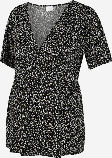 Tricou 'Carla Tess' MAMALICIOUS pe galben / negru / alb, Vizualizare produs