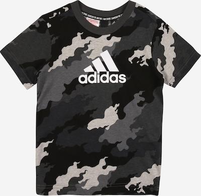 ADIDAS PERFORMANCE Tehnička sportska majica u svijetlosiva / tamo siva / siva melange / crna / bijela, Pregled proizvoda