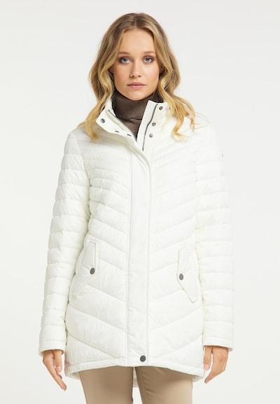 DreiMaster Klassik Mantel in weiß, Modelansicht