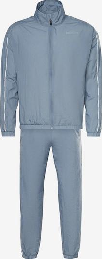 Reebok Sport Trainingsanzug 'Essentials Piping' in blau / grau / schwarz / weiß, Produktansicht