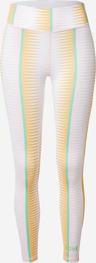 DELICATELOVE Sportovní kalhoty 'Nadi' - žlutá / nefritová / bílá, Produkt