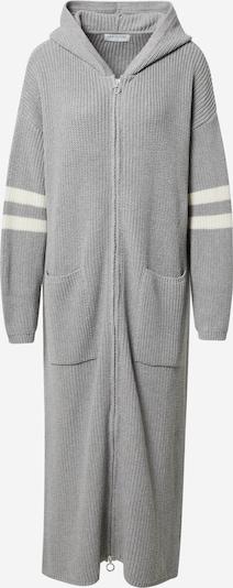 JAN 'N JUNE Pleten plašč 'Hudson' | kremna / siva barva, Prikaz izdelka