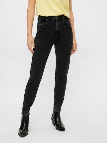 PIECES Jeans 'Leah' in Zwart