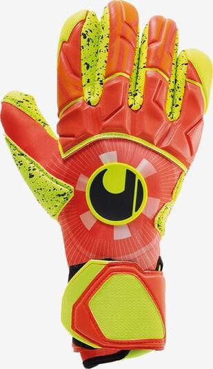 UHLSPORT Handschuh in neongelb / dunkelorange / schwarz, Produktansicht