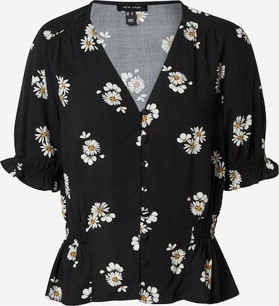 NEW LOOK Bluse 'Desiree' in senf / schwarz / weiß, Produktansicht