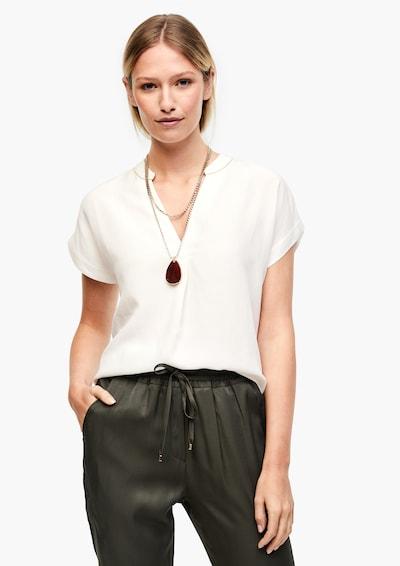 s.Oliver BLACK LABEL Blouse in de kleur Wit, Modelweergave