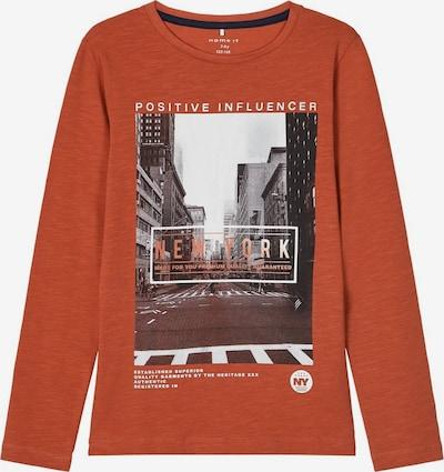 NAME IT Shirt 'Stav' in grau / graphit / rostrot / weiß, Produktansicht