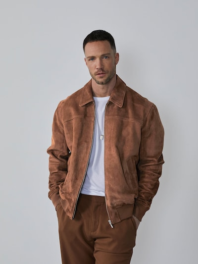 Demisezoninė striukė 'Kaan' iš DAN FOX APPAREL, spalva – ruda, Modelio vaizdas