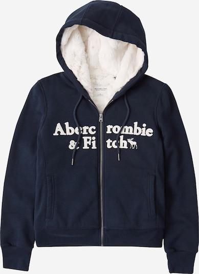Abercrombie & Fitch Mikina s kapucí - tmavě modrá / bílá, Produkt
