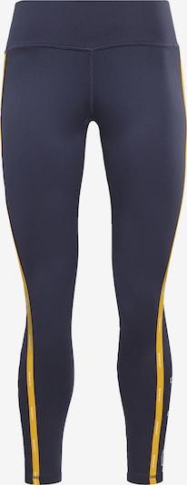 REEBOK Leggings in nachtblau / goldgelb / weiß, Produktansicht