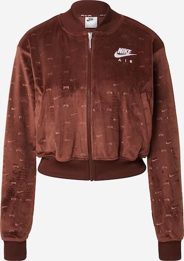 Nike Sportswear Jacke in rostbraun / weiß, Produktansicht