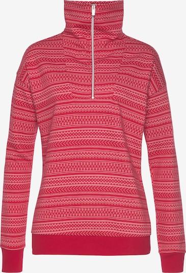s.Oliver Sweatshirt in rot / weiß, Produktansicht