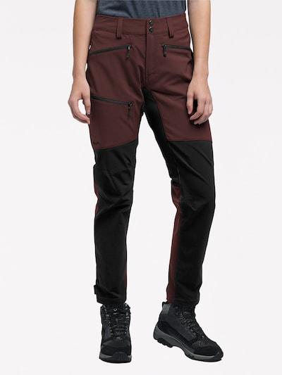 Haglöfs Outdoorhose 'Rugged Flex' in burgunder / schwarz, Modelansicht