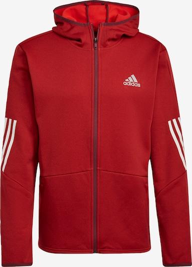 ADIDAS PERFORMANCE Funktionele fleece-jas in de kleur Grijs / Rood / Zwart / Wit, Productweergave