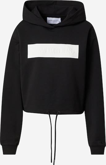 Calvin Klein Jeans Sweatshirt 'HERO' in Black / White, Item view