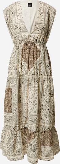 PINKO Лятна рокла 'ABBRACCIAMI' в бежово / кафяво / черно, Преглед на продукта