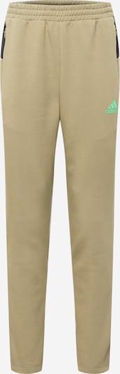 ADIDAS PERFORMANCE Pantalon de sport en kaki / citron vert / noir, Vue avec produit