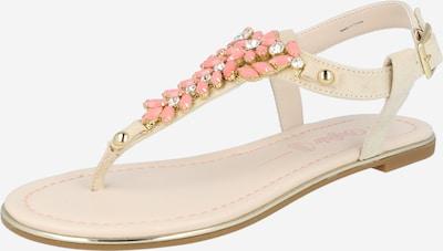 BUFFALO Sandale 'ROSALIE' in creme / lachs, Produktansicht