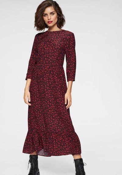 TAMARIS Kleid in rot / schwarz, Modelansicht
