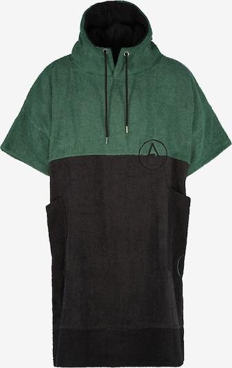 Wave Hawaii Badeponcho ' Move ' in dunkelgrün / schwarz, Produktansicht