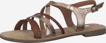 s.Oliver Strap Sandals in Bronze