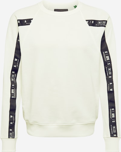 G-Star RAW Sweatshirt in schwarz / naturweiß, Produktansicht