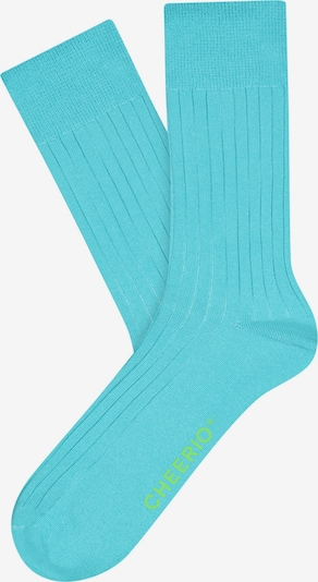 CHEERIO* Socks 'TOUGH GUY' in Turquoise, Item view