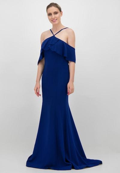 Prestije Maxikleid in blau, Modelansicht