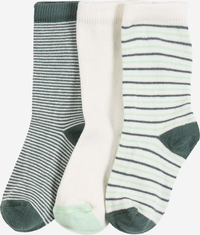 PETIT BATEAU Socken in mint / grasgrün / weiß, Produktansicht