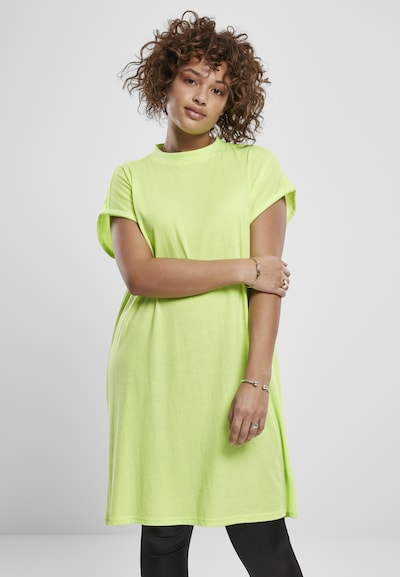Urban Classics Curvy Kleid in limette, Modelansicht