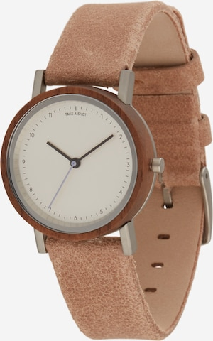 Orologio analogico di TAKE A SHOT in marrone