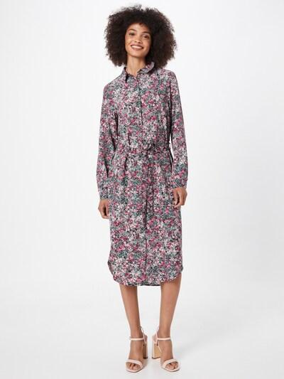 VERO MODA Kleid 'SASHA' in dunkelgrün / pink / pitaya / hellpink / weiß, Modelansicht