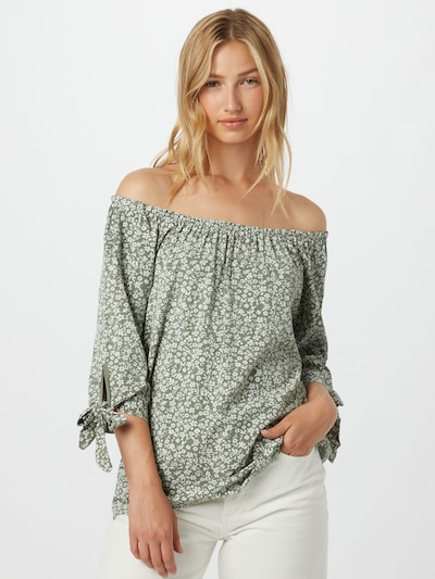 Hailys Blusa 'Lotty' en caqui / blanco, Vista del modelo